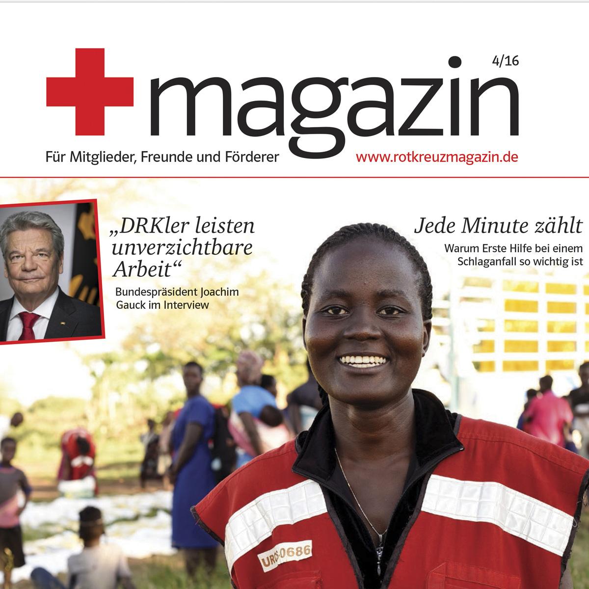 rotkreuzmagazin für Mitglieder, Freunde und Förderer Ausgabe 4/16